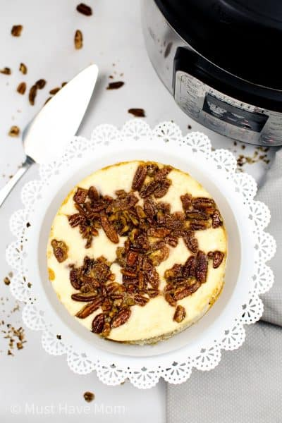 easy pecan cheesecake in Instant Pot
