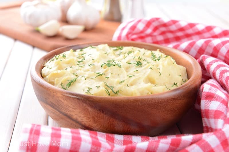 garlic red skin mashed potatoes