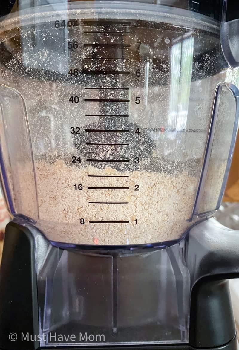 making oat flour in a food processor
