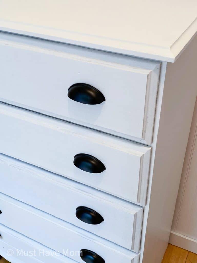 hardware for white dresser