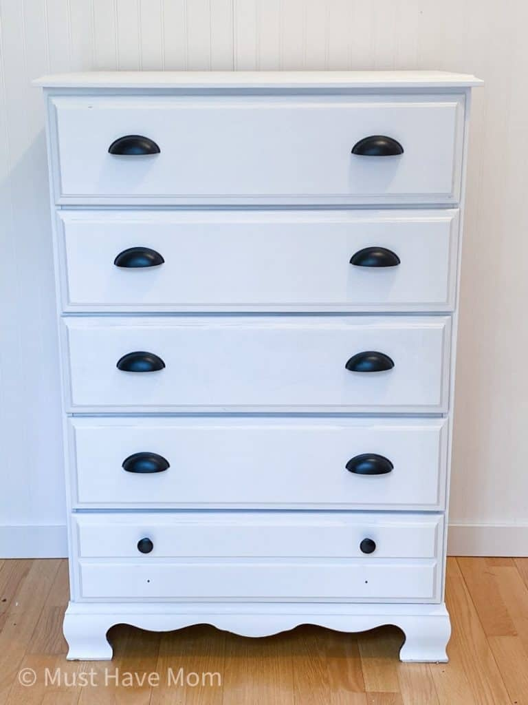 painting a dresser white the easy way