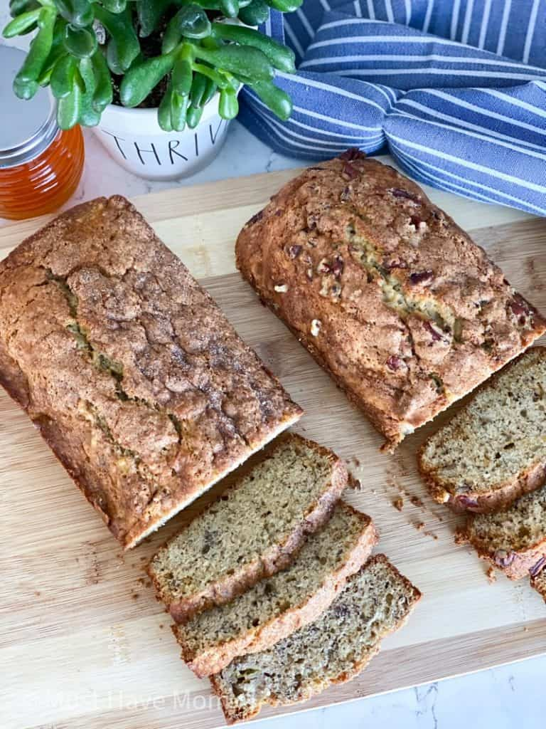 how to make two loaves of banana bread