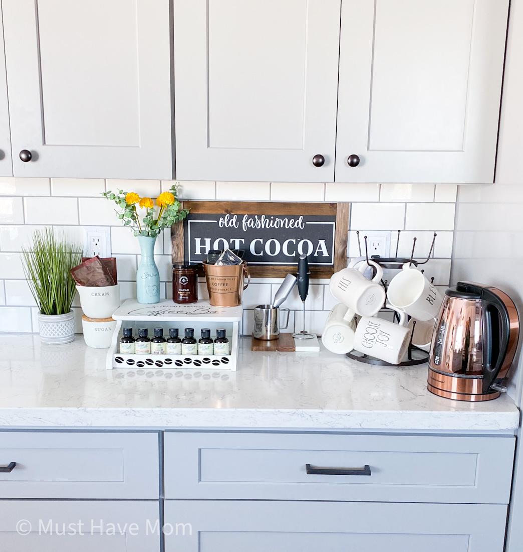 farmhouse coffee bar