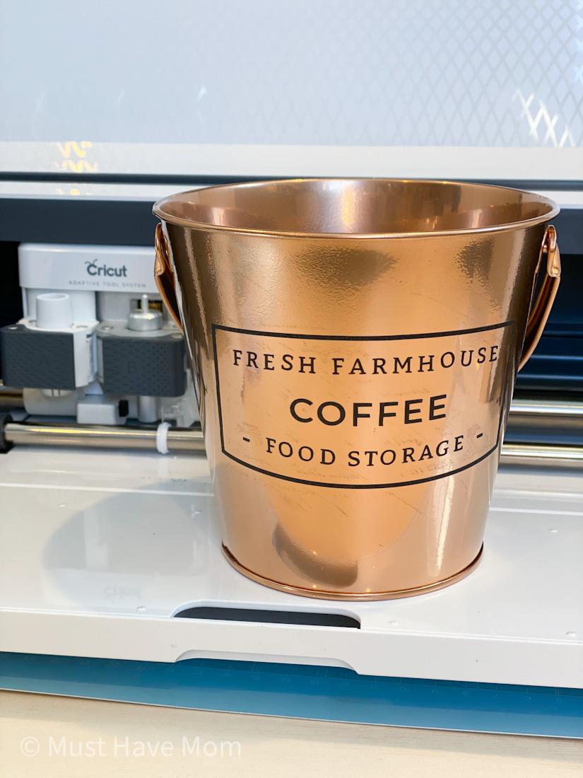 farmhouse copper bucket DIY