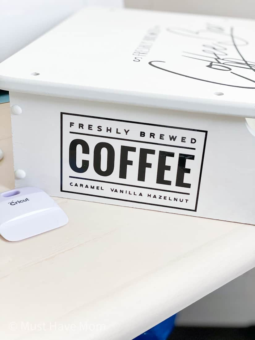 coffee bar vinyl Cricut