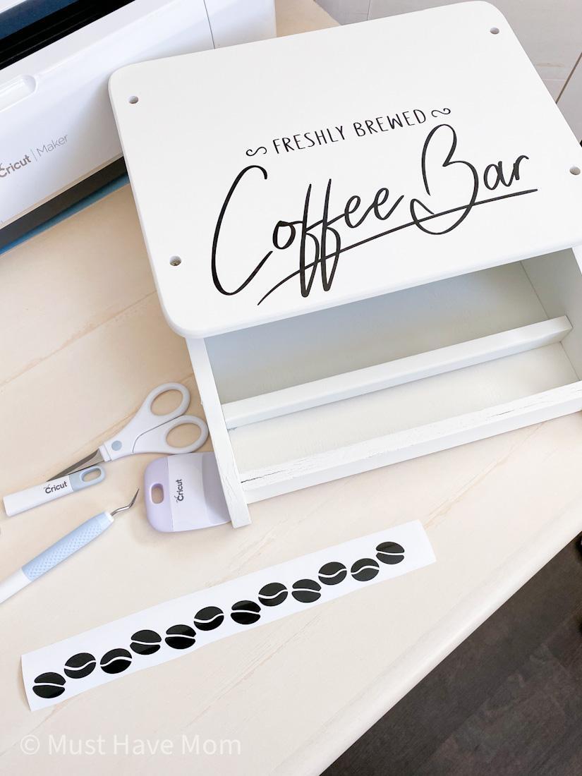 coffee bean cricut vinyl