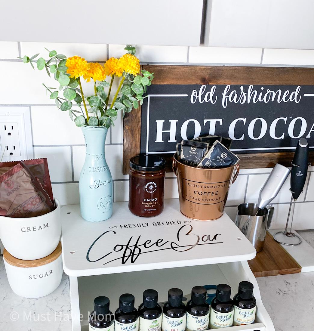 thrift store coffee bar diy