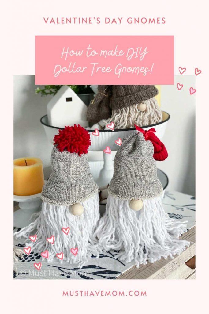 DIY Valentine's Day gnomes