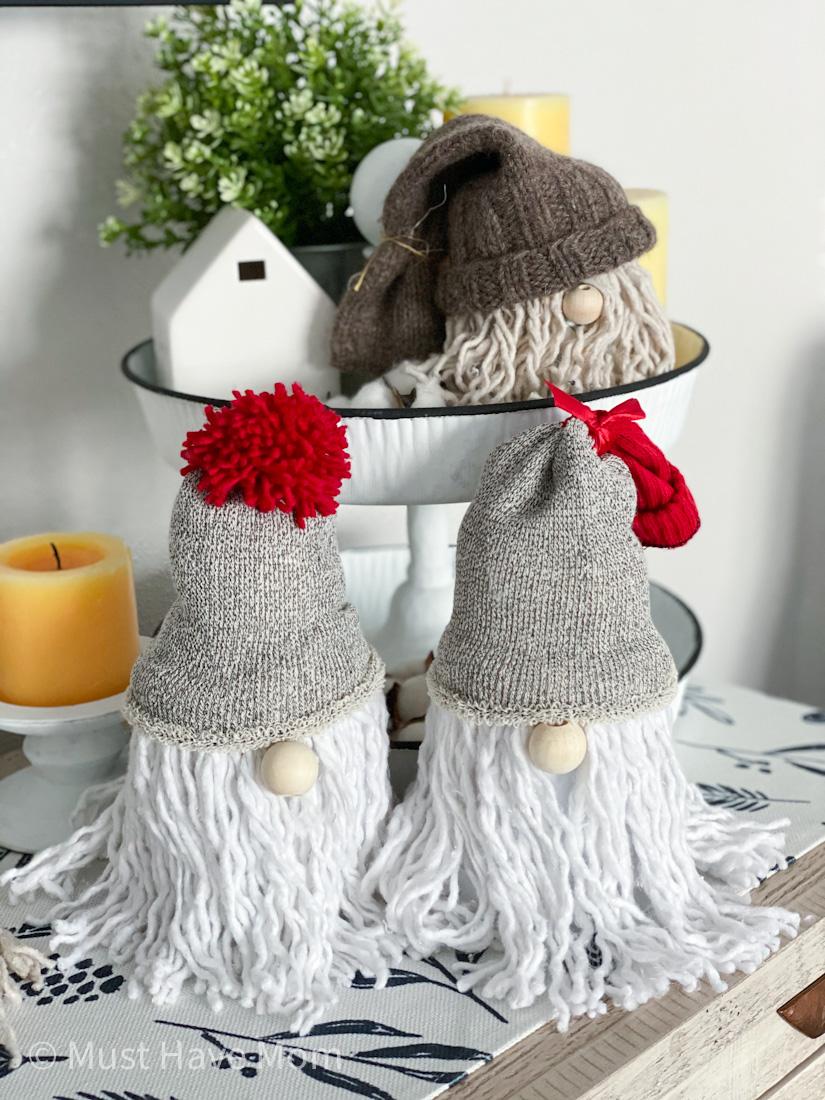 adorable homemade gnomes