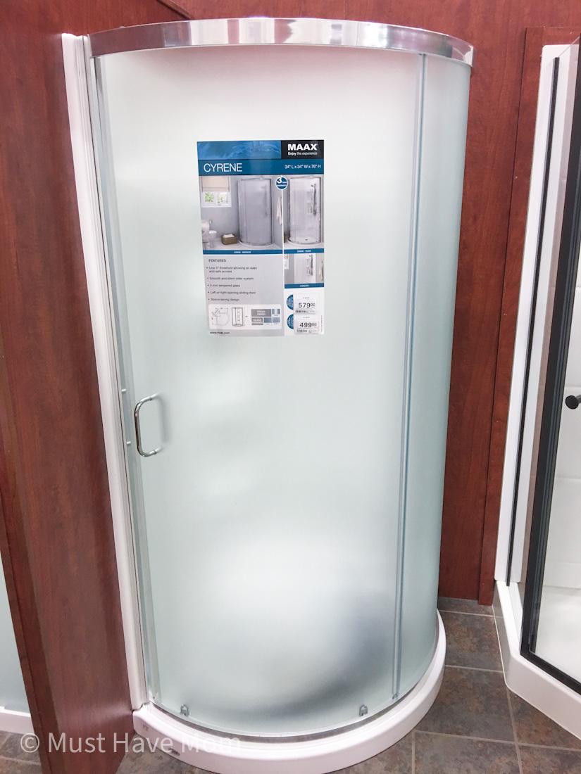 residential shower for RV