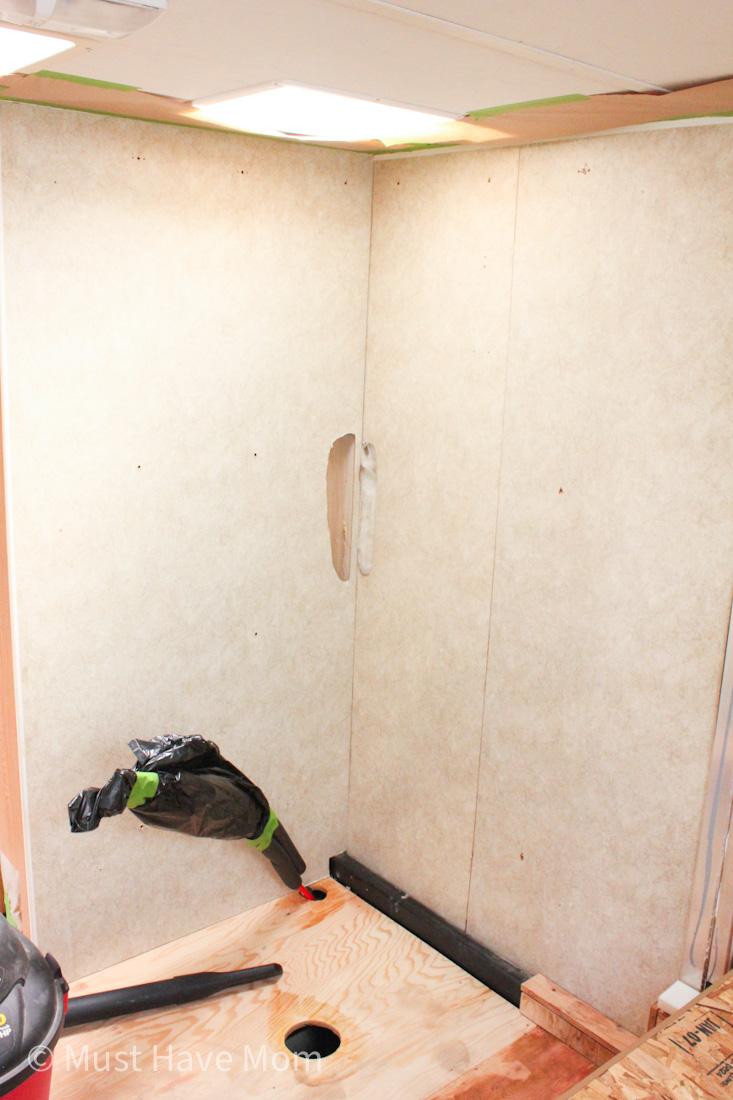 install RV shower