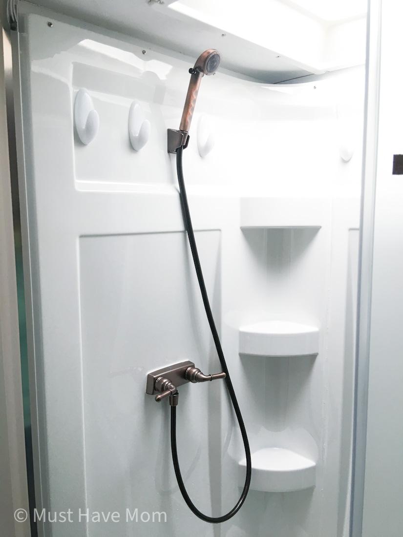 RV shower faucet