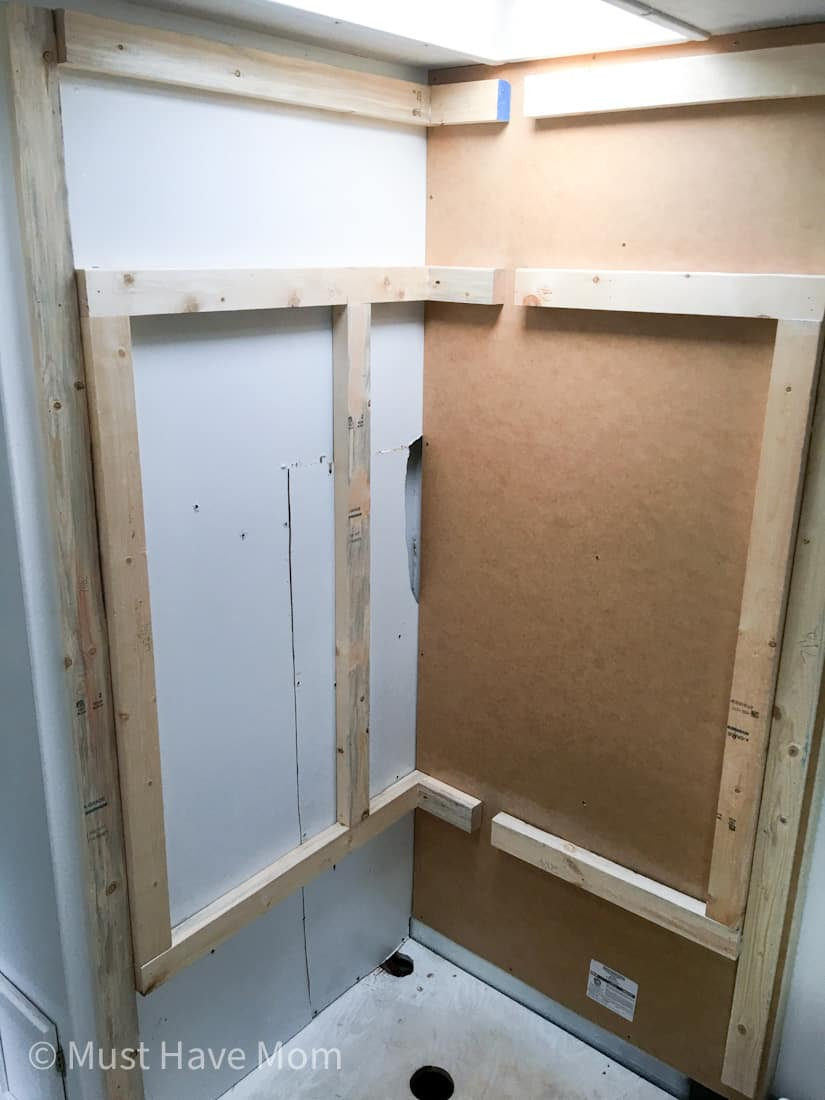 how to install shower in RV