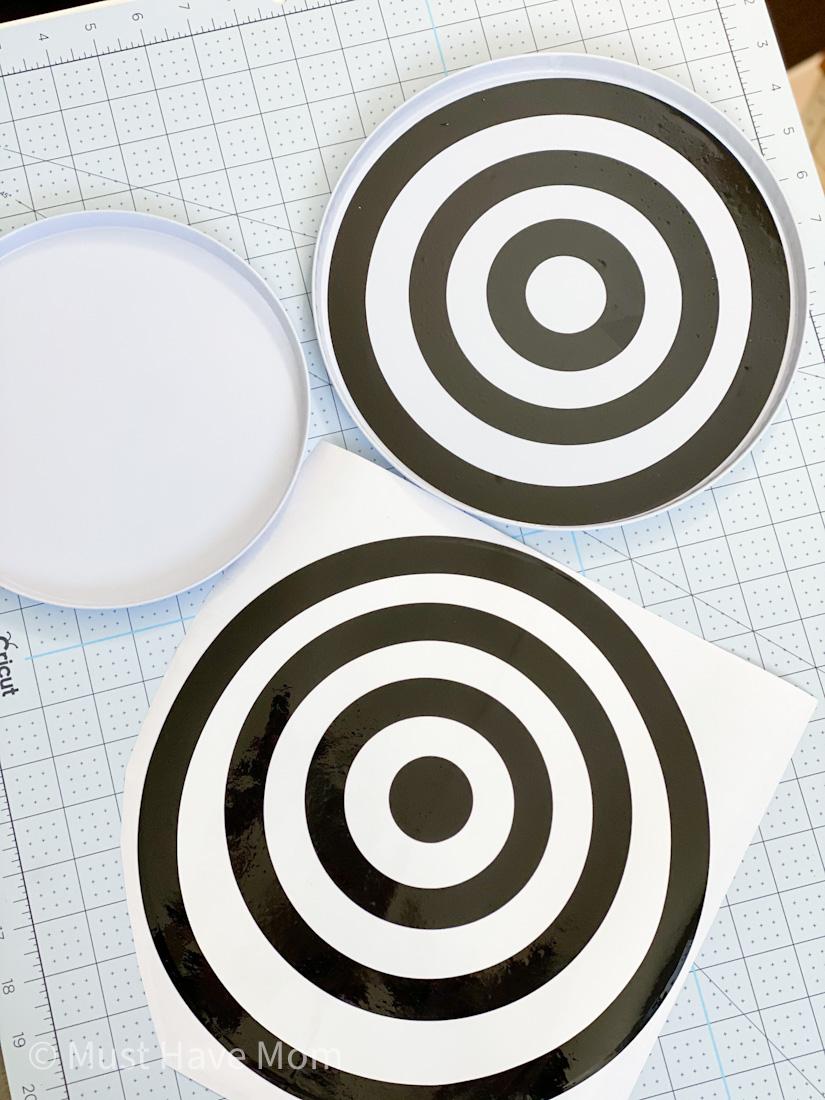 Cricut bullseye targets DIY