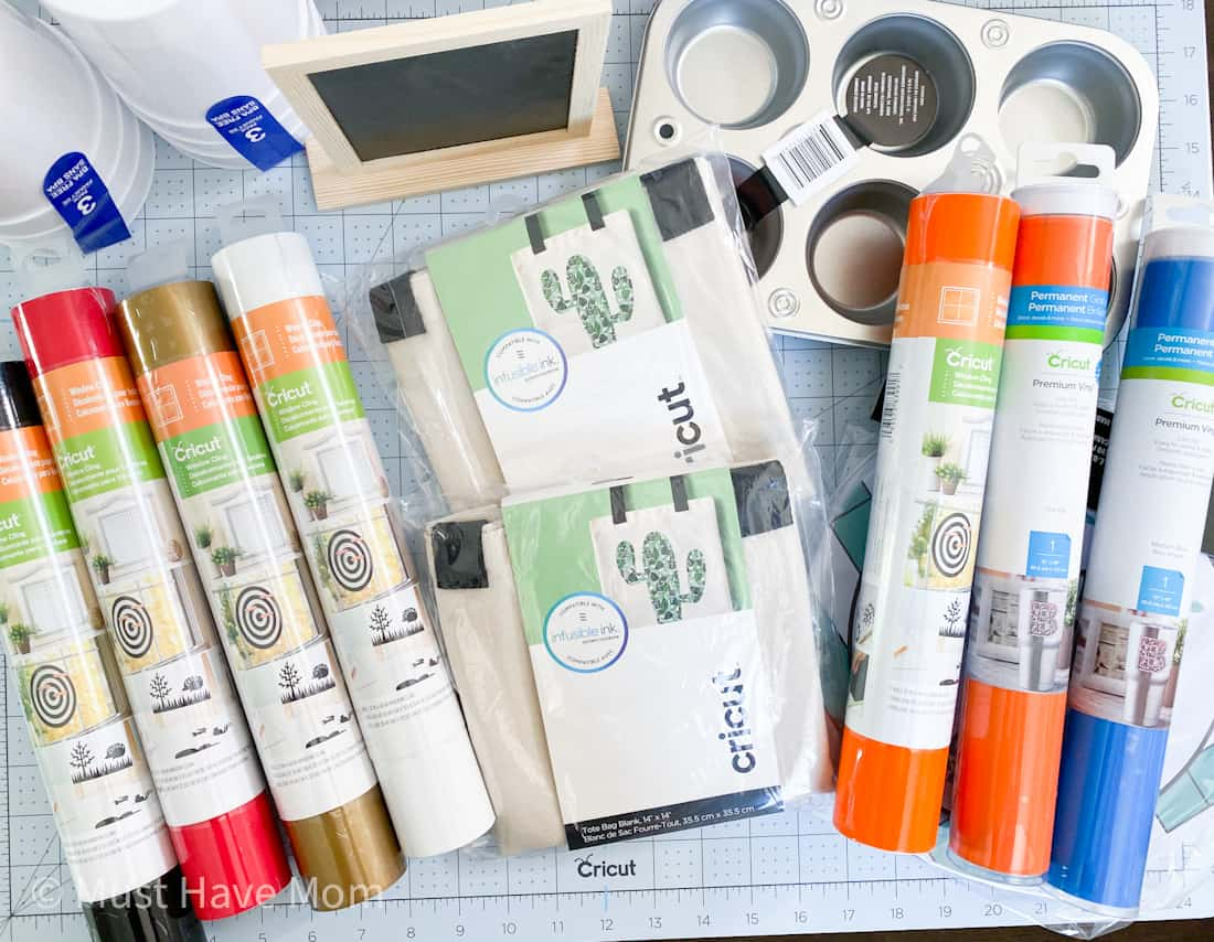 Cricut supplies for DIY nerf targets