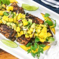 yellowtail snapper with mango chutney