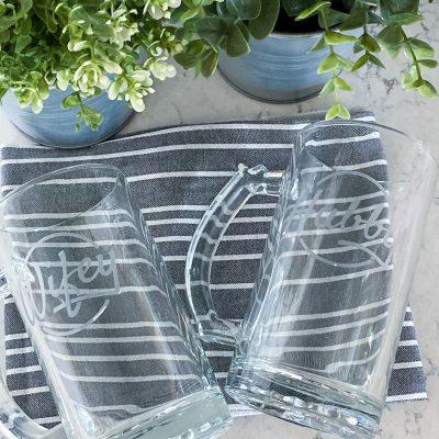 DIY Glass Etching Designs Wedding Gift Ideas
