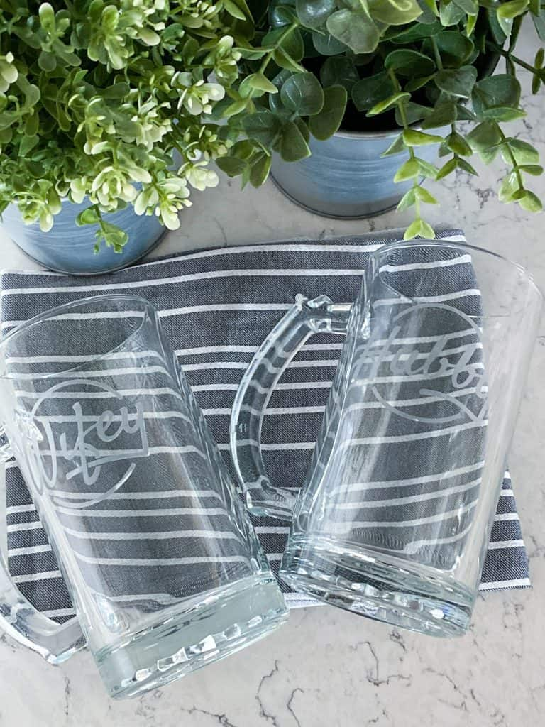 glass etched beer mugs