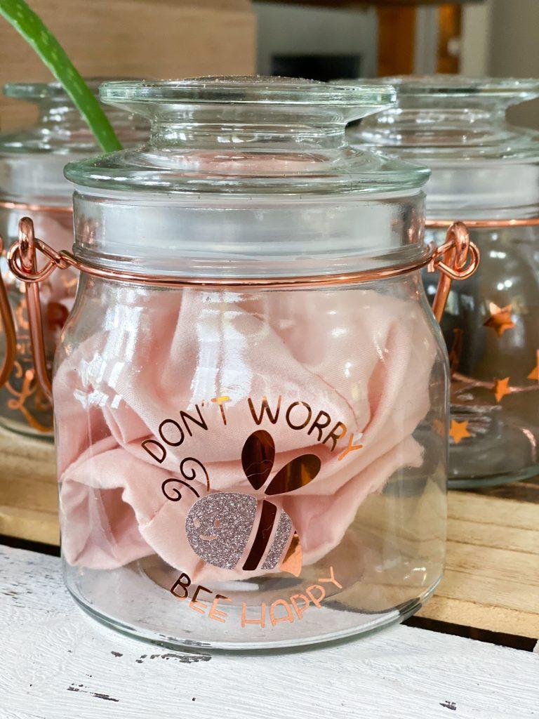 don't worry bee happy jar